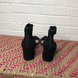 Crown Vintage Shoes - Crown Vintage Thelania Black ankle wrap sandal